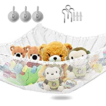 """Storage Hammock-XXXLarge Toy Organizer - High Quality De-cluttering Solution& Inexpensive Idea for Every Room at Home or Facility - Dimensions 71""""x47""""x47"""""""