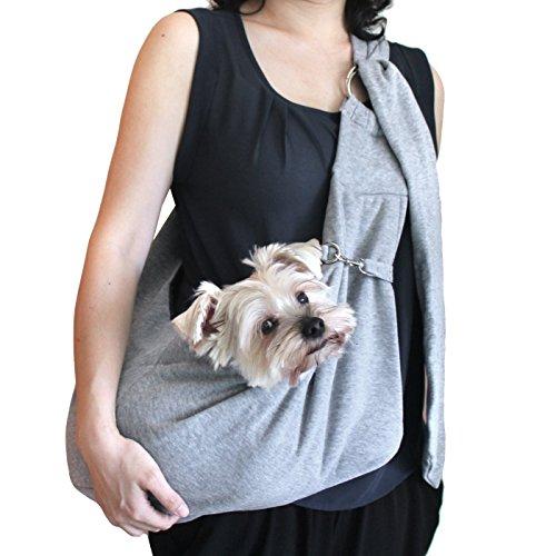 viewing(ヴューイング) 小型犬用 子犬 抱っこ紐 ひも バックスリング バッグスリング ペット PET キャリー キャリア デニム or コットン 肩紐長さ調整可能タイプ (コットン・グレー)