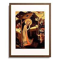 Meister des Altars von Wittingau 「Anbetung des Kindes.」 額装アート作品