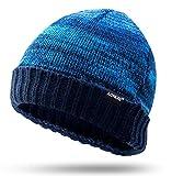 OURJOY ニット帽 メンズ レディース ランニング 帽子 ビーニー ニットキャップ ビーニーキャップ ビーニー帽 防寒 防風 男女兼用 暖かい おしゃれ クリスマス プレゼント 冬用 ブルー