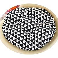 女の子の心の椅子のクッションクッションクッション学生の教室かわいいおならパッド厚い畳座クッションブースターパッド,黒い三角,50x50cm [スリップバージョンの厚]