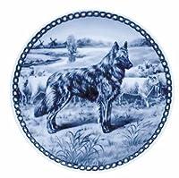 デンマーク製 ドッグ・プレート (犬の絵皿) 直輸入! Dutch Shepherd Dog - Longhaired / ダッチ・シェパード・ドッグ - ロングヘア