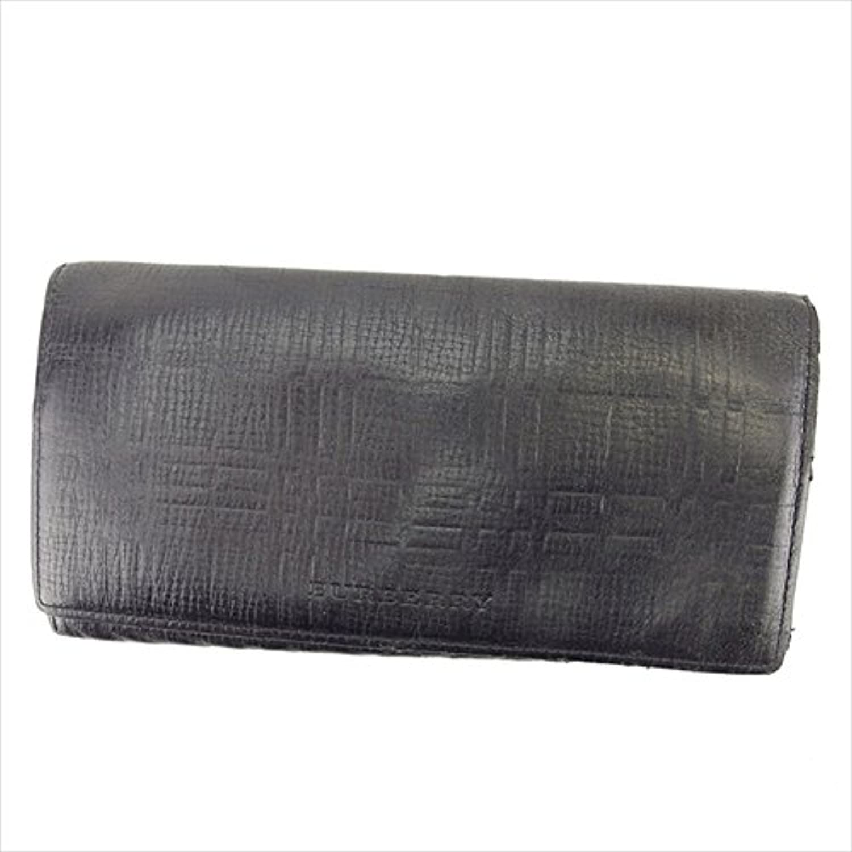 [バーバリー] BURBERRY ZIP長財布 二つ折り財布 レディース メンズ 可 ノバチェック 中古 Y7212