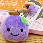 ぬいぐるみ ぶどうちゃんクリーナー携帯ストラップ(濃い紫)
