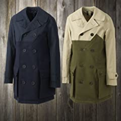 Nigel Cabourn King George Coat: Navy / Olive