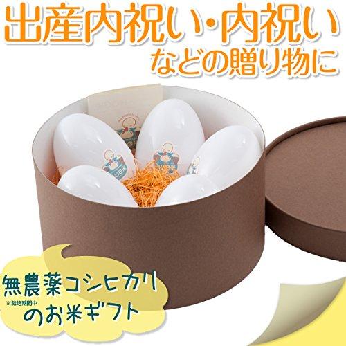 出産内祝い 内祝い 米 お返し 名入れ 人気 ハグ米 二合(300g)X5袋 1.5kg ブラウン