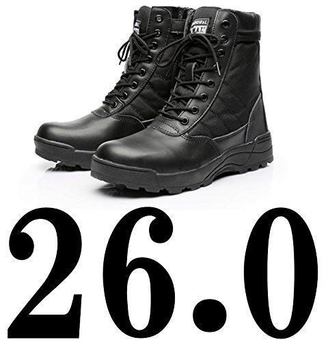 【Cheers】衝撃吸収 インソール 付き! タクティカルブーツ サイドジッパー サバゲー ブーツ(26.0cm(42) ブラック )