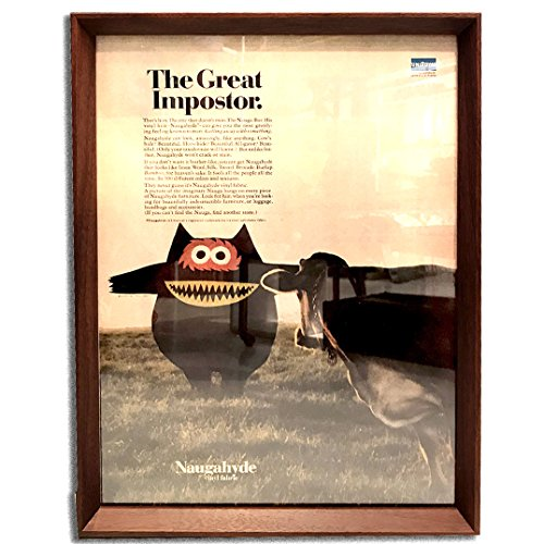 ナウガハイド ナウガモンスター 品番04 1960年代 ビンテージ広告 ポスター アートフレーム 額付 イームズ ハーマンミラー ノール
