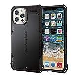 エレコム iPhone 12 Pro Max ケース ケース ハイブリッド ZEROSHOCK 耐衝撃 スタンダード ブラック PM-A20CZEROBK