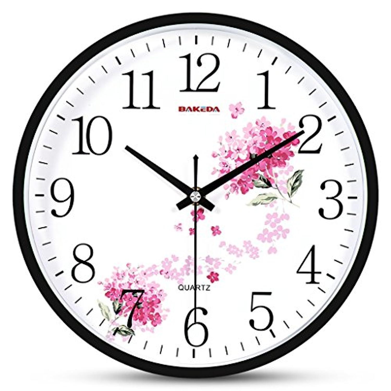 掛け時計 壁時計鐘時計居間のオフィスの壁時計寝室大きなキッチン大きな壁時計居間の振り子のための現代の壁時計ヴィンテージ無垢材の時計サイレントモダンレトロ壁時計 (色 : B)