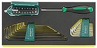 STAHLWILLE 4008/27/1R(KN) ラチェットドライバーセット(96182203)