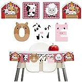 1歳誕生日バナー 動物 ハイチェアバースデーバナー ONE 男の子 子供 一歳誕生日飾り パーティー飾り付けセット