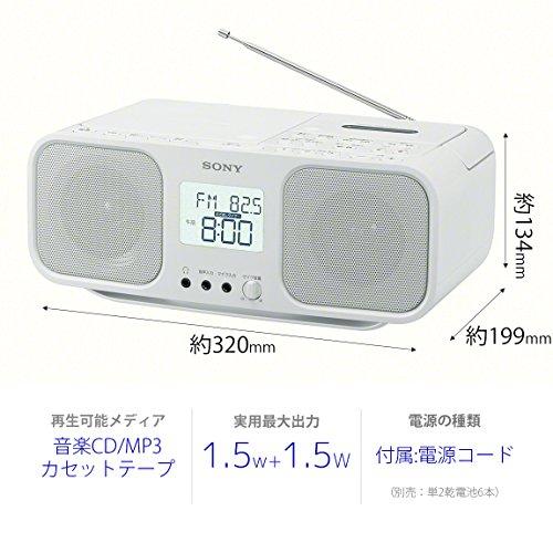 Brand-Karaoke-Sony-SONY-CD-radio-cassette-recorder-CFD-S401-W-Japan