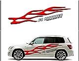 ノーブランド FO MOTORED RACING SPIRIT BY FO 真っ赤なフレイムパターンと英字の組み合わせが絶妙(左)