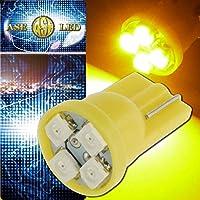 T10 LEDバルブ4連アンバー1個 SMDウェッジ球 as421