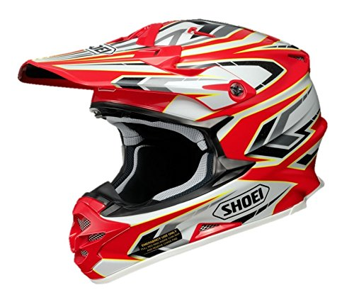 ショウエイ(SHOEI) バイクヘルメット オフロード VFX-W BLOCK-PASS【ブロック・パス】 TC-1 (RED/WHITE) M (57cm)