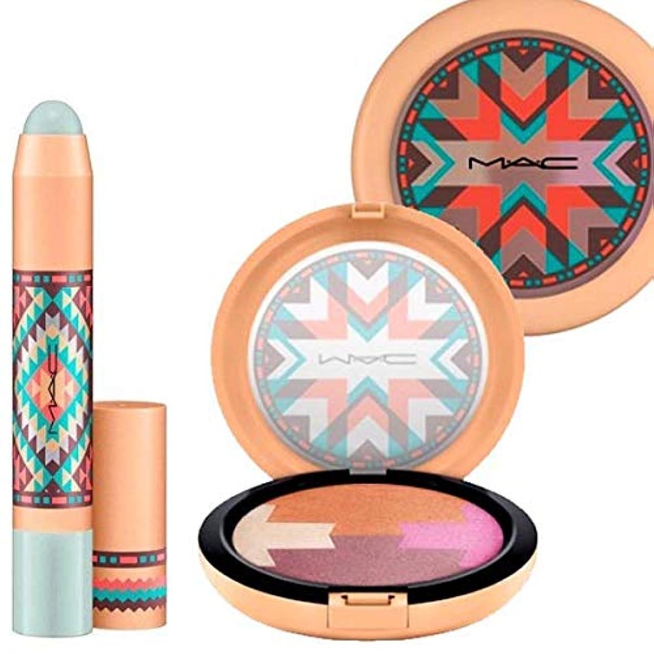 請求書ゴールデン左M.A.C ?マック, 限定版 !!! Vibe Tribe/Gleamtones Powder & Desert Evening Lip Pencil [海外直送品] [並行輸入品]
