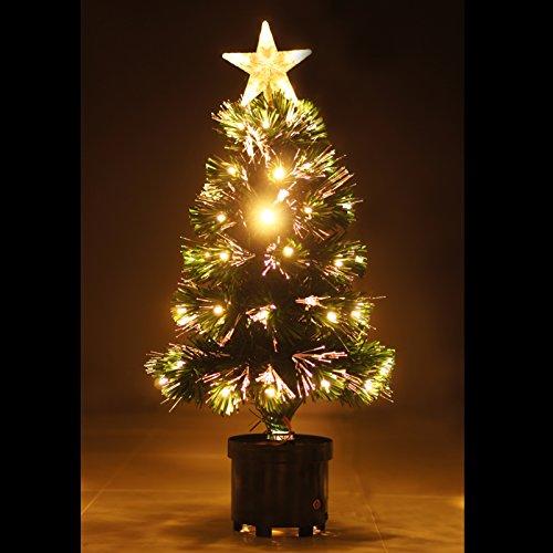 光るクリスマスツリー(60cm?)☆LED&光ファイバー仕様!イルミネーションが綺麗なクリスマスツリー☆組み立て簡単!ぱっとお部屋をX'mas気分に!シリーズ多数あり!店内装飾やパーティー演出にもぴったり!!