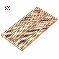 5点5x 10cm Single Side銅プロトタイプ紙PCBブレッドボード2–3- 5ジョイント穴