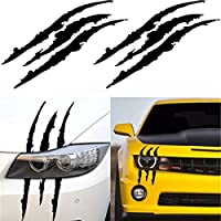 FidgetGear ヘッドライトスクラッチストライプデカールステッカークローストライプスラッシュトラック車のビニールマーク