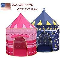 ポータブル子Folding Play House Castle Cubbyアウトドアインドアおもちゃテント寸法: 135 x 105 x 80