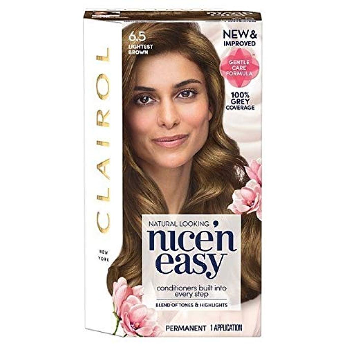 機動ペルソナ酸度[Nice'n Easy] Nice'N簡単6.5軽い茶色 - Nice'n Easy 6.5 Lightest Brown [並行輸入品]