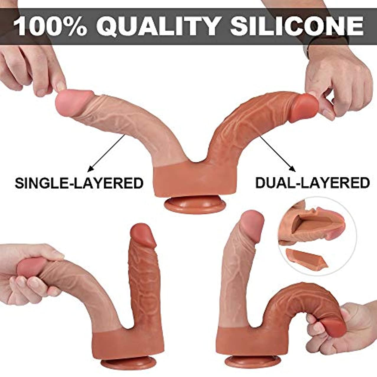 フリース塗抹読みやすいY-angcco6 ソフトで柔軟なダブルヘッドマッサージSEおもちゃ女性カップル - 100%秘密のパッキング