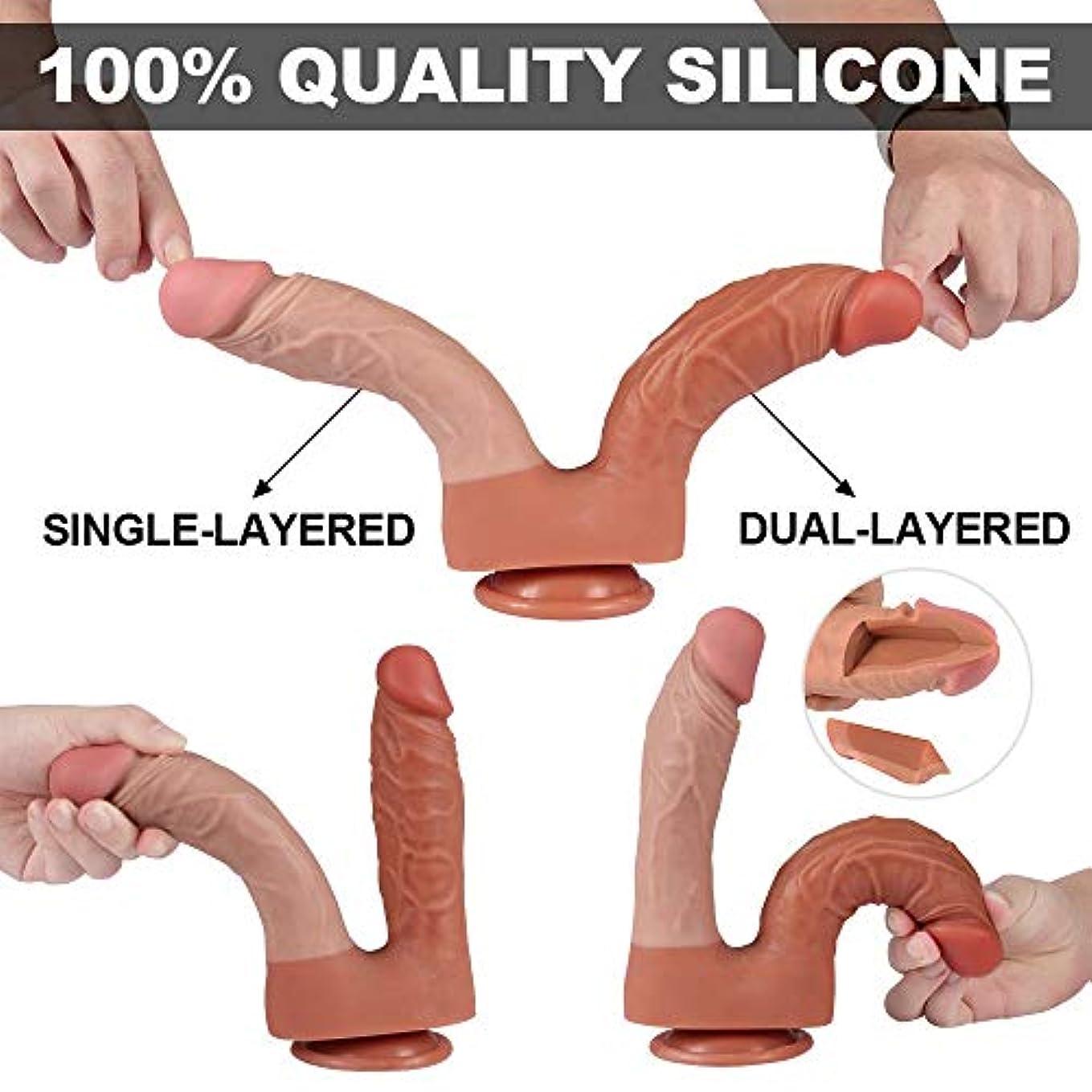 ゴールデン急勾配の持続するY-angcco6 ソフトで柔軟なダブルヘッドマッサージSEおもちゃ女性カップル - 100%秘密のパッキング