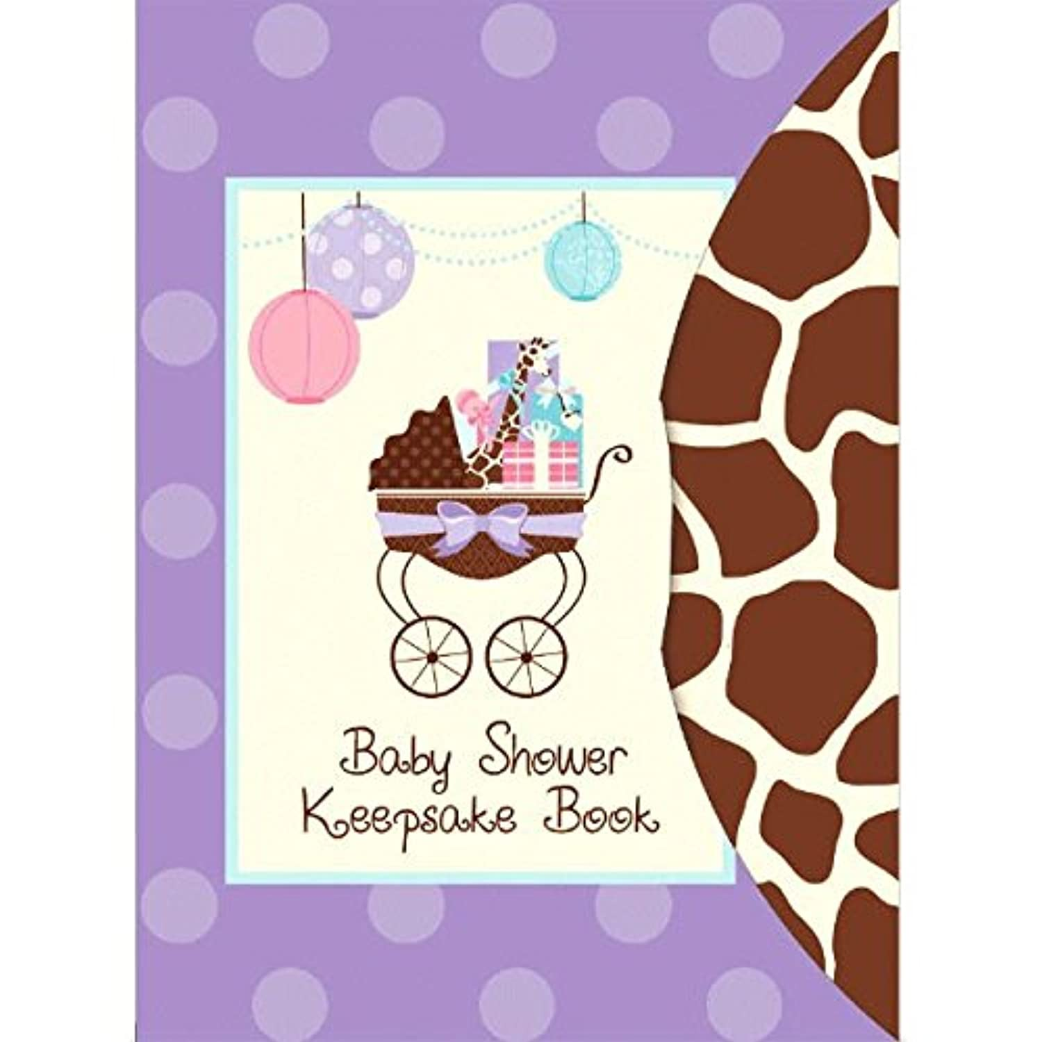 Amscan Modern Mommy Baby Shower Party Keepsake Book, 8-1/4 x 6