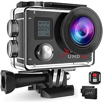 Amazon | Campark 4Kアクションカメラ 2000万画素 フルHD 2インチタッチ ...