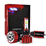 COOAU 車用 H11 LEDヘッドライト 車検対応LEDヘッドライト60W 7200ルーメン 2面チップ搭載 バルブ 防水IP68 フォグランプ 冷却ファン内蔵モデル 取り付け簡単 超高輝度 DC9-36V 6000K カーライト 2本セット自動車用LEDライト 1年保証付き