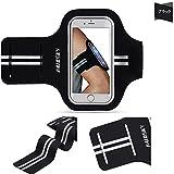 スポーツアームバンド ケース ランニング スマホケース キーホルダー付き 防水、防汗/調節可能iPhone5/iPhone 6/iPhone 6s/iPhone6plus/Xperiaなどに対応 最大5.5インチ ブラック