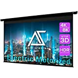 """Akia Screens 110"""" Motorized Electric Projector Projection Screen 16:9 8K 4K Ultra HD 3D Ready Wall/Ceiling Mounted 12V Trigge"""