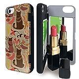 iPhone8 iPhone7 iPhone6 iPhone6s ケース ミラー 付き 猫 ねこ 鳥 トリ 北欧 猫 カードケース 北欧柄 動物 アイフォン8 アイフォン7 アイフォン6 アイフォン6s カバー 葉っぱ 鏡付き iPhoneケース