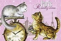 ねこの引出し フランス製猫のポストカード  ★Paris Rendez-oous