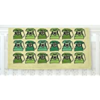 KESS InHouse Holly Helgeson Grandma's Telephone Green Yellow Fleece Baby Blanket 40 x 30 [並行輸入品]