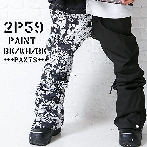 le-Rhythm(リアリズム) (M) 15-16ユニセックス メンズ レディース スノーボードウェア パンツ ペイントホワイトxブラック2P59