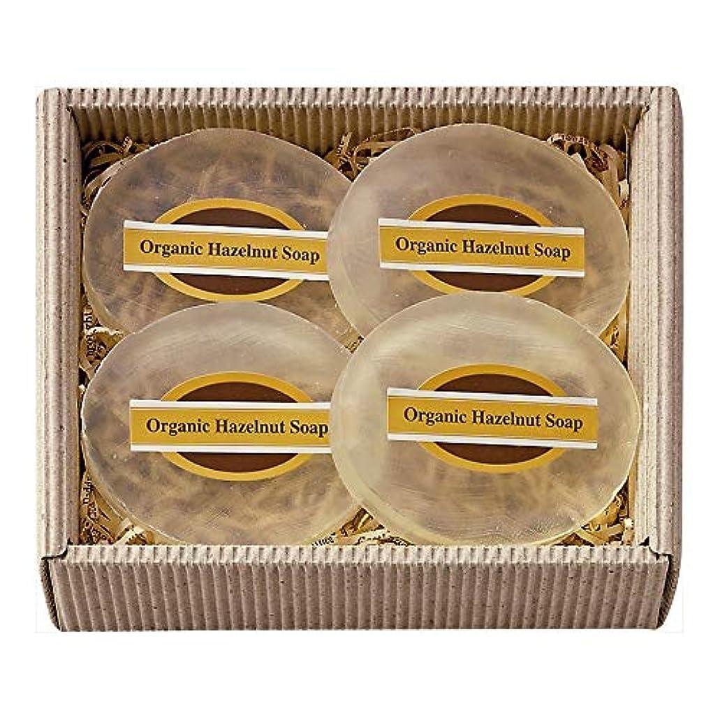 甘くする保証ライドオーガニックヘーゼルナッツ ソープ40g4個セット MOSK042 無香料?無着色