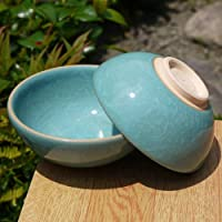 青磁夫婦茶碗 陶仙