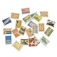 (ライチ) Lychee 46枚 シール ステッカー ラベル 飛行機 旅行 復古 おしゃれ 可愛い ノート 日記 手帳 スクラップブック 装飾用の紙 西洋式