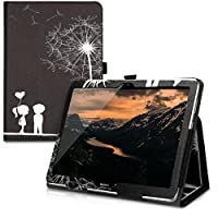 kwmobile Huawei MediaPad T3 10 用 ケース - タブレットカバー - タブレット 保護ケース スタンド付き ファーウェイ メディアパッド