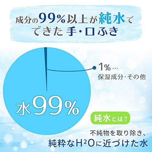 レックディズニー ミッキー&フレンズ 純水 99% 手・くちふき 1パック(60枚×3個) レック