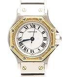 カルティエ サントス オクタゴン 自動巻き 腕時計 ホワイト Cartier レディース【中古】