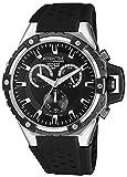 [シチズン キューアンドキュー]CITIZEN Q&Q 腕時計 ATTRACTIVE クロノグラフ ウレタンベルト 逆輸入 海外モデル ブラック DG02J302Y