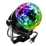 ステージライト ミラーボール マジックボール 舞台照明 レーザー 照明 led バーライト クラブ ライト 音声起動 音楽に合わせ機能 自走機能付け KINGSO disco light 水晶魔球 LED 5W RGB 100-240V カラフル ステージ ディスコ パーティー KTV カラオケ クラブ バー照明用ライト