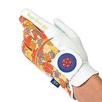 Hoapili(ホアピリ) HOAPILI メンズ ゴルフグローブ(合皮) オレンジ 左手用 22cm HP-027