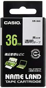 カシオ ラベルライター ネームランド テープ 36mm XR-36X 透明