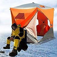 全自動テント!氷釣り 3-4人用 アウトドア キャンプ用品 防風 防寒 登山 撥水加工 軽量 設営簡単,イエロー(3つのまど)