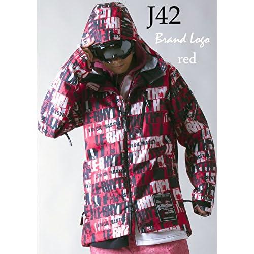 le-Rhythm(リアリズム) (XXL) 14-15ユニセックス メンズ レディース スノーボードウェア ジャケット ブランドロゴレッド J42