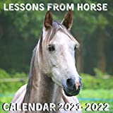 Lessons From Horse Calendar 2021-2022: April 2021 - June 2022 Square Photo Book Monthly Planner Mini Calendar With Inspiratio